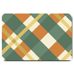 Autumn Plaid Large Doormat  by Alisyart