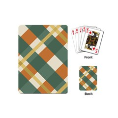 Autumn Plaid Playing Cards (mini)  by Alisyart