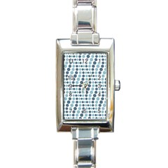Circle Blue Grey Line Waves Rectangle Italian Charm Watch by Alisyart