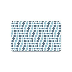 Circle Blue Grey Line Waves Magnet (name Card) by Alisyart