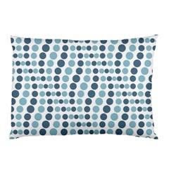 Circle Blue Grey Line Waves Pillow Case by Alisyart