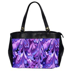 Purple Marble  Office Handbags (2 Sides)  by KirstenStar