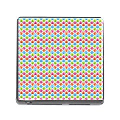 Colorful Floral Seamless Red Blue Green Pink Memory Card Reader (square) by Alisyart