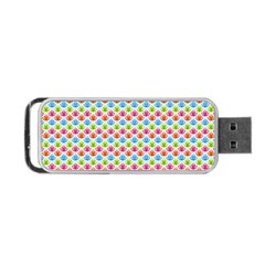 Colorful Floral Seamless Red Blue Green Pink Portable Usb Flash (one Side) by Alisyart