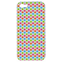 Colorful Floral Seamless Red Blue Green Pink Apple Iphone 5 Hardshell Case by Alisyart
