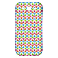 Colorful Floral Seamless Red Blue Green Pink Samsung Galaxy S3 S Iii Classic Hardshell Back Case by Alisyart