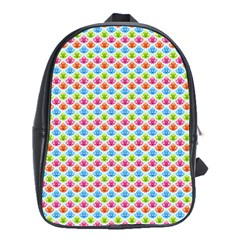 Colorful Floral Seamless Red Blue Green Pink School Bags (xl)  by Alisyart