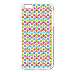 Colorful Floral Seamless Red Blue Green Pink Apple Iphone 6 Plus/6s Plus Enamel White Case by Alisyart