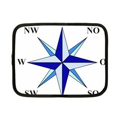 Compass Blue Star Netbook Case (small)  by Alisyart
