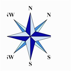 Compass Blue Star Large Garden Flag (two Sides) by Alisyart