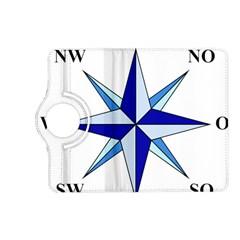 Compass Blue Star Kindle Fire Hd (2013) Flip 360 Case by Alisyart