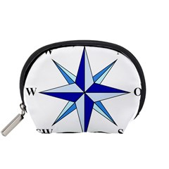 Compass Blue Star Accessory Pouches (small)  by Alisyart