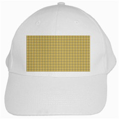 Golden Yellow Tablecloth Plaid Line White Cap by Alisyart
