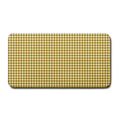 Golden Yellow Tablecloth Plaid Line Medium Bar Mats by Alisyart