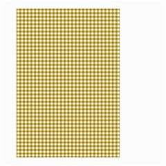 Golden Yellow Tablecloth Plaid Line Small Garden Flag (two Sides) by Alisyart