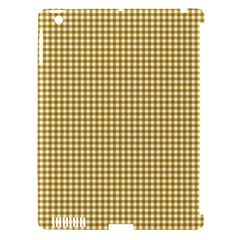 Golden Yellow Tablecloth Plaid Line Apple Ipad 3/4 Hardshell Case (compatible With Smart Cover) by Alisyart