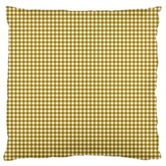 Golden Yellow Tablecloth Plaid Line Standard Flano Cushion Case (one Side) by Alisyart