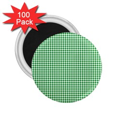 Green Tablecloth Plaid Line 2 25  Magnets (100 Pack)  by Alisyart