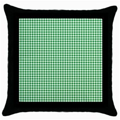 Green Tablecloth Plaid Line Throw Pillow Case (black) by Alisyart