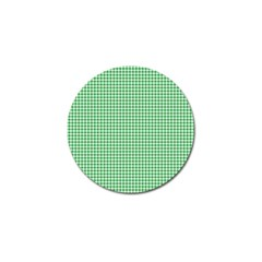 Green Tablecloth Plaid Line Golf Ball Marker by Alisyart