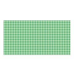 Green Tablecloth Plaid Line Satin Shawl by Alisyart