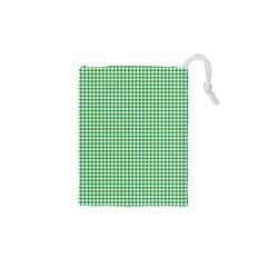 Green Tablecloth Plaid Line Drawstring Pouches (xs)  by Alisyart