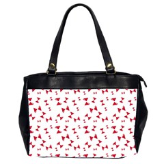 Hour Glass Pattern Red White Triangle Office Handbags (2 Sides)  by Alisyart