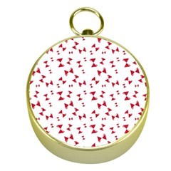 Hour Glass Pattern Red White Triangle Gold Compasses by Alisyart