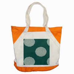 Green Circle Floral Flower Blue White Accent Tote Bag by Alisyart