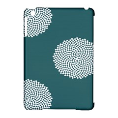 Green Circle Floral Flower Blue White Apple Ipad Mini Hardshell Case (compatible With Smart Cover) by Alisyart