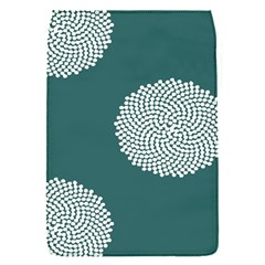 Green Circle Floral Flower Blue White Flap Covers (s)  by Alisyart