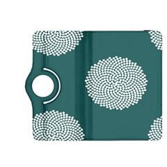 Green Circle Floral Flower Blue White Kindle Fire Hdx 8 9  Flip 360 Case by Alisyart