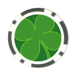 Leaf Clover Green Poker Chip Card Guard (10 Pack) by Alisyart