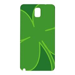 Leaf Clover Green Samsung Galaxy Note 3 N9005 Hardshell Back Case by Alisyart