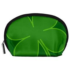 Leaf Clover Green Accessory Pouches (large)  by Alisyart