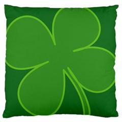 Leaf Clover Green Standard Flano Cushion Case (two Sides) by Alisyart