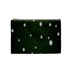 Graphics Green Leaves Star White Floral Sunflower Cosmetic Bag (medium)  by Alisyart