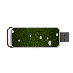 Graphics Green Leaves Star White Floral Sunflower Portable Usb Flash (one Side) by Alisyart