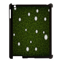 Graphics Green Leaves Star White Floral Sunflower Apple Ipad 3/4 Case (black) by Alisyart