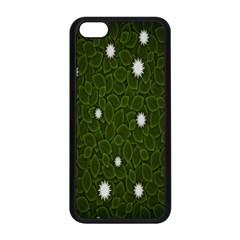 Graphics Green Leaves Star White Floral Sunflower Apple Iphone 5c Seamless Case (black) by Alisyart