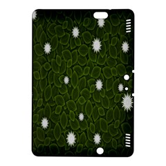 Graphics Green Leaves Star White Floral Sunflower Kindle Fire Hdx 8 9  Hardshell Case by Alisyart