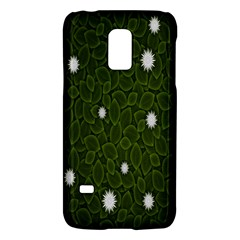 Graphics Green Leaves Star White Floral Sunflower Galaxy S5 Mini by Alisyart