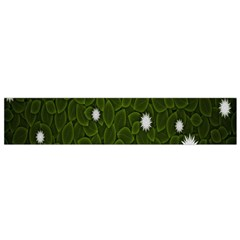 Graphics Green Leaves Star White Floral Sunflower Flano Scarf (small) by Alisyart