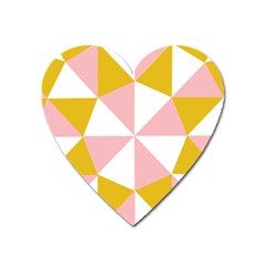 Learning Connection Circle Triangle Pink White Orange Heart Magnet by Alisyart