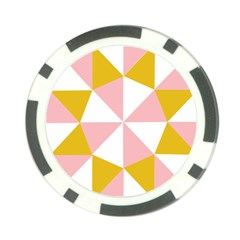 Learning Connection Circle Triangle Pink White Orange Poker Chip Card Guard (10 Pack) by Alisyart