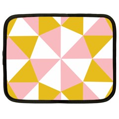 Learning Connection Circle Triangle Pink White Orange Netbook Case (xxl)  by Alisyart