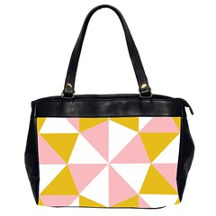 Learning Connection Circle Triangle Pink White Orange Office Handbags (2 Sides)  by Alisyart