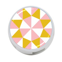 Learning Connection Circle Triangle Pink White Orange 4 Port Usb Hub (two Sides)  by Alisyart