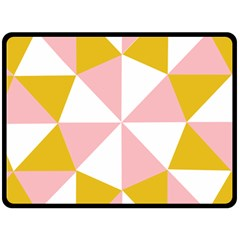 Learning Connection Circle Triangle Pink White Orange Fleece Blanket (large)  by Alisyart