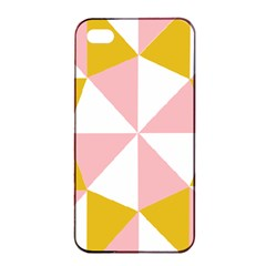 Learning Connection Circle Triangle Pink White Orange Apple Iphone 4/4s Seamless Case (black) by Alisyart